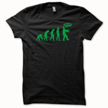 Tee shirt Evolution zombi vert/noir