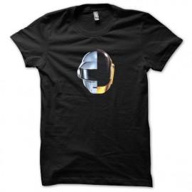 Tee shirt Daft Punk nouveau logo sur tee shirt noir