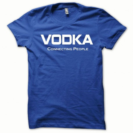 Tee shirt Vodka Connecting People blanc/bleu royal