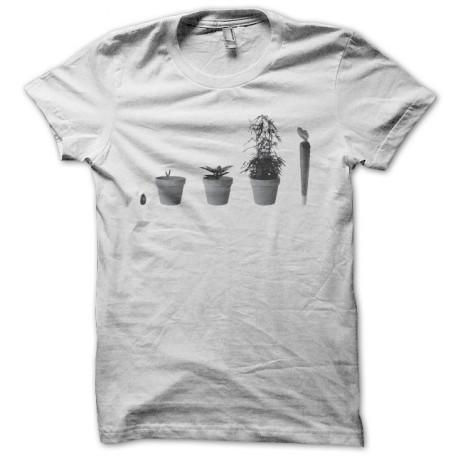 Tee shirt Weed evolution blanc