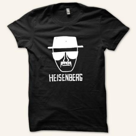 Camiseta blanca Romper mala Heisenberg / negro