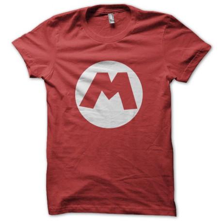 Tee shirt Mario bros M logo rouge