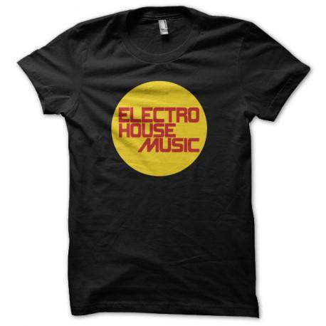 Tee shirt Electro House Music noir