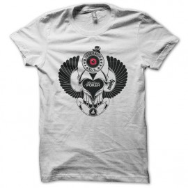 Tee shirt Poker Beattle Obsession Evil blanc