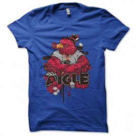 Tee shirt Poker Aigle Rouge bleu