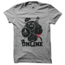 Tee shirt Poker Geek Addict gris