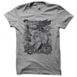Tee shirt Poker Harry Houdini gris