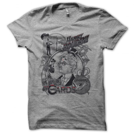 Tee shirt Poker Harry Houdini gris