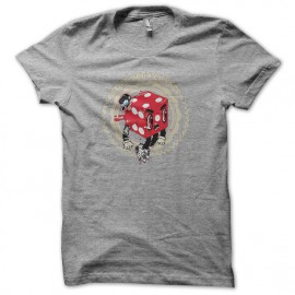 Tee shirt Poker Seize Chance gris