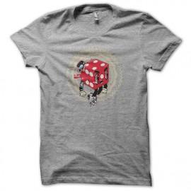 Tee shirt Poker Seize Chance gris