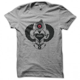 Tee shirt Poker Beattle Obsession Evil gris
