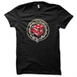 Tee shirt Poker Seize Chance noir