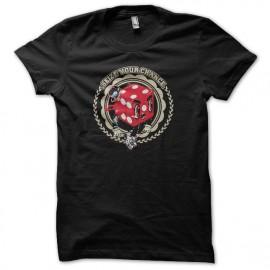 Tee shirt Poker Seize Chance noir
