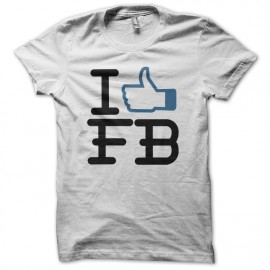 Tee shirt Facebook Like blanc