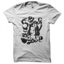 Tee shirt Girly Sleek serpent blanc