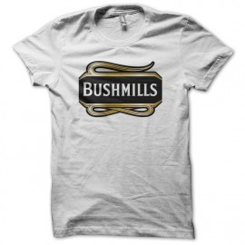 Tee shirt Bushmills Irish Whisky blanc