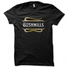 Tee shirt Bushmills Irish Whisky noir