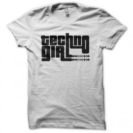 Tee shirt Techno Girl blanc