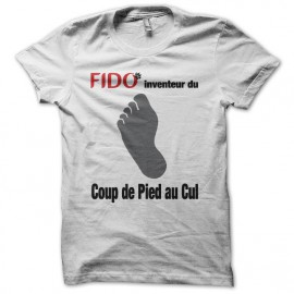Tee shirt Fido Le coup de pied au cul blanc
