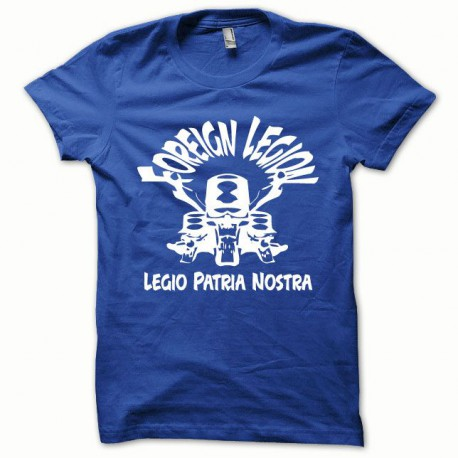 Tee shirt Foreign Legion blanc/bleu royal