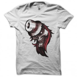 Tee shirt Tattoo1 tête de mort canon blanc