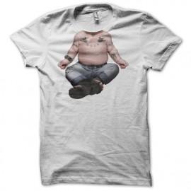 Tee shirt Evian parodie Bébé Tatoo blanc