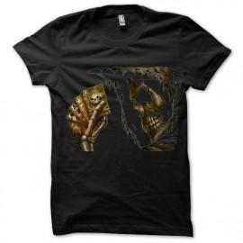 Negro camiseta cráneo Poker