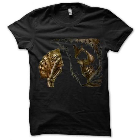 Black tee shirt Poker skull