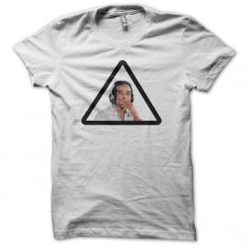 Tee shirt DJ roots smoking blanc