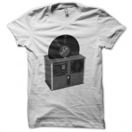 Tee shirt DJ Vinyl Cleaner blanc