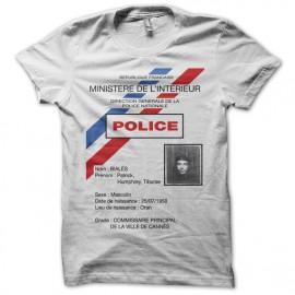 Tee shirt La cité de la peur Commissaire Bialès carte de police blanc