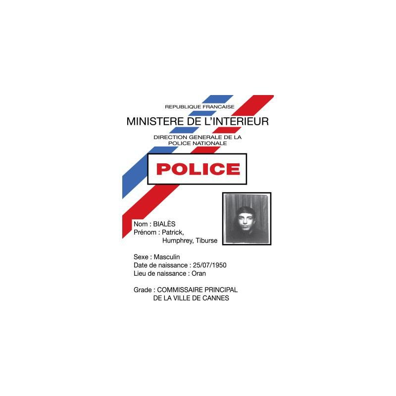 Tee shirt la cit de la peur commissaire bial s carte de - Grille de salaire commissaire de police ...