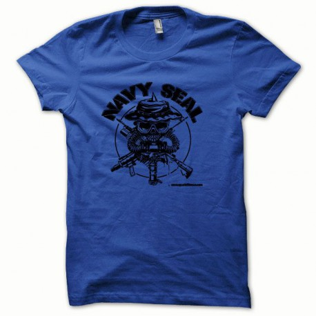 Tee shirt Navy Seal noir/bleu royal
