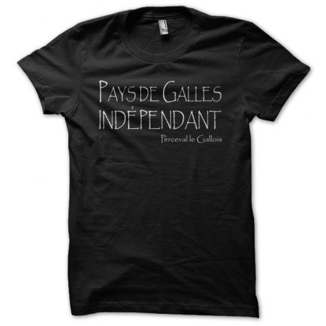 Tee shirt Kaamelott Perceval Pays de Galles indépendant noir