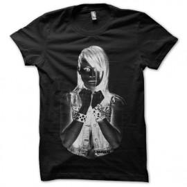 Tee shirt Nakadia DJ techshirt halftone noir