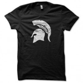 Tee shirt Spartacus casque spartiate vintage artwork noir