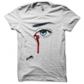 Tee shirt True Blood larme de sang blanc