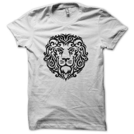 Shirt lion tattoo tribal white artwork for Tribal tattoo shirt