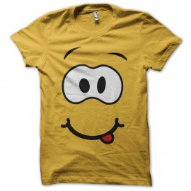 Tee shirt rigolo visage cartoon jaune
