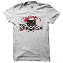 Tee shirt J'ai une vraie Kinoton parodie La Cité de la Peur Simon Jeremy blanc