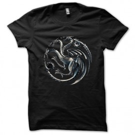 Tee shirt Maison Targaryen dragons de khaleesi Trone de fer noir