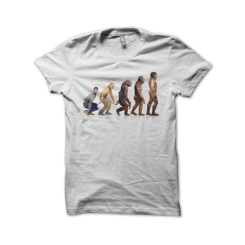 Dumb & Dumber t-shirt white evolution homo sapiens