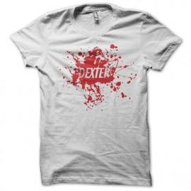 Tee shirt Dexter logo sur tâche de sang blanc