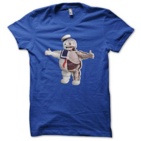 T-shirt Sr. Stay Puft Ghostbusters parodia anatomía azul