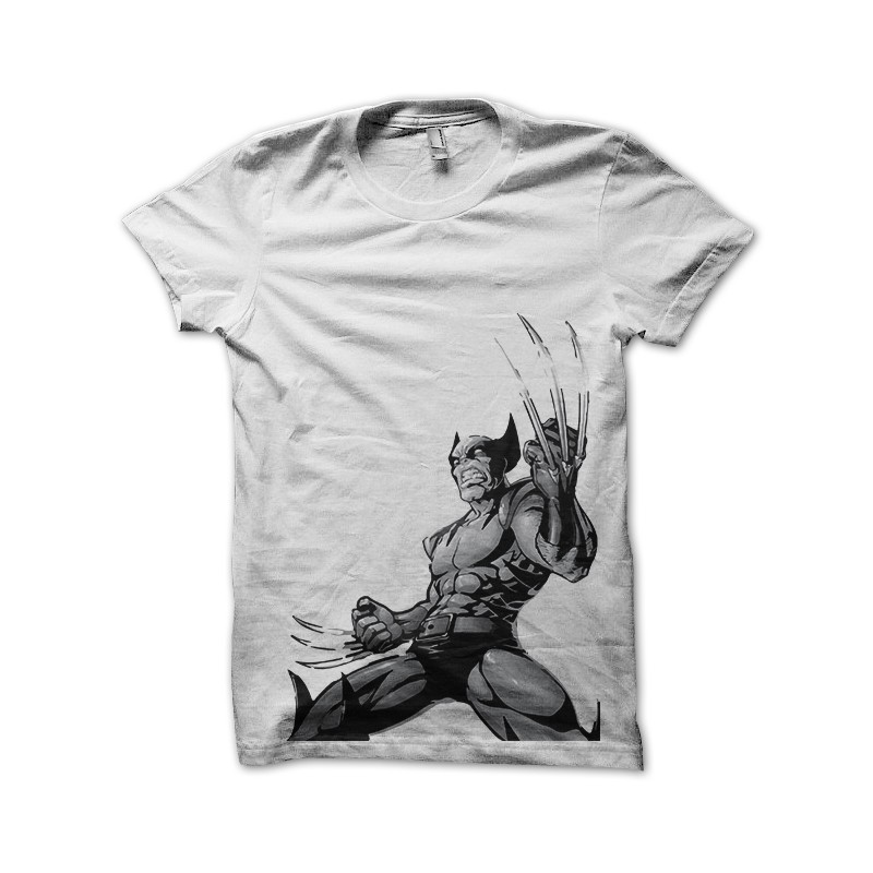 Wolverine Tatuaje Blanco Estilo De La Camisa