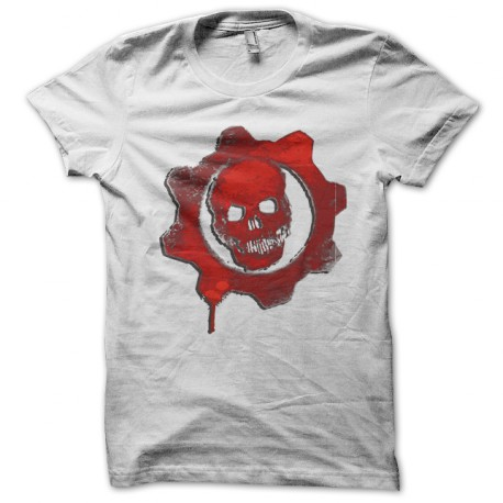 T Shirt Video Game Gears Of War Red Symbol On White