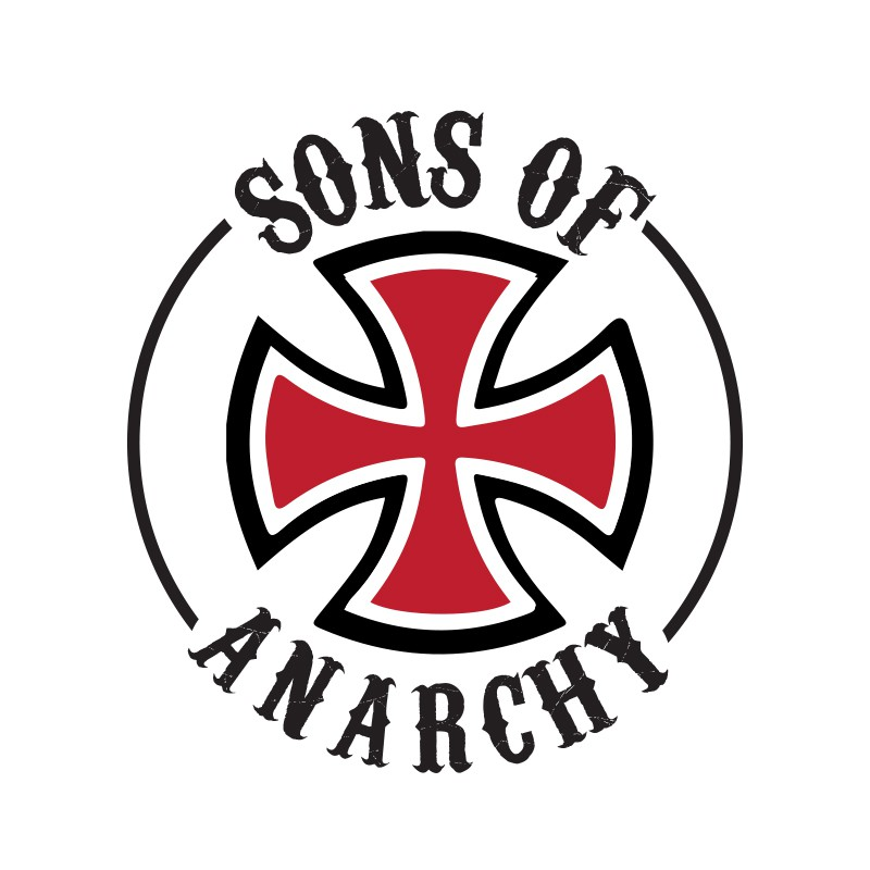 tee shirt bikers sons of anarchy croix de malte blanc. Black Bedroom Furniture Sets. Home Design Ideas