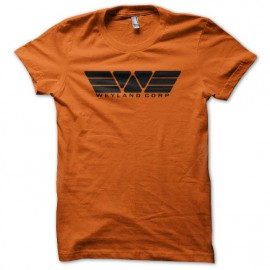 Tee shirt Weyland corp Prometheus Alien orange