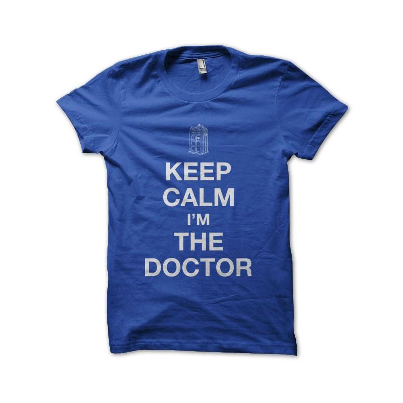 T Parody Shirt Calm Doctor Keep Blue Who F3lJuT15cK