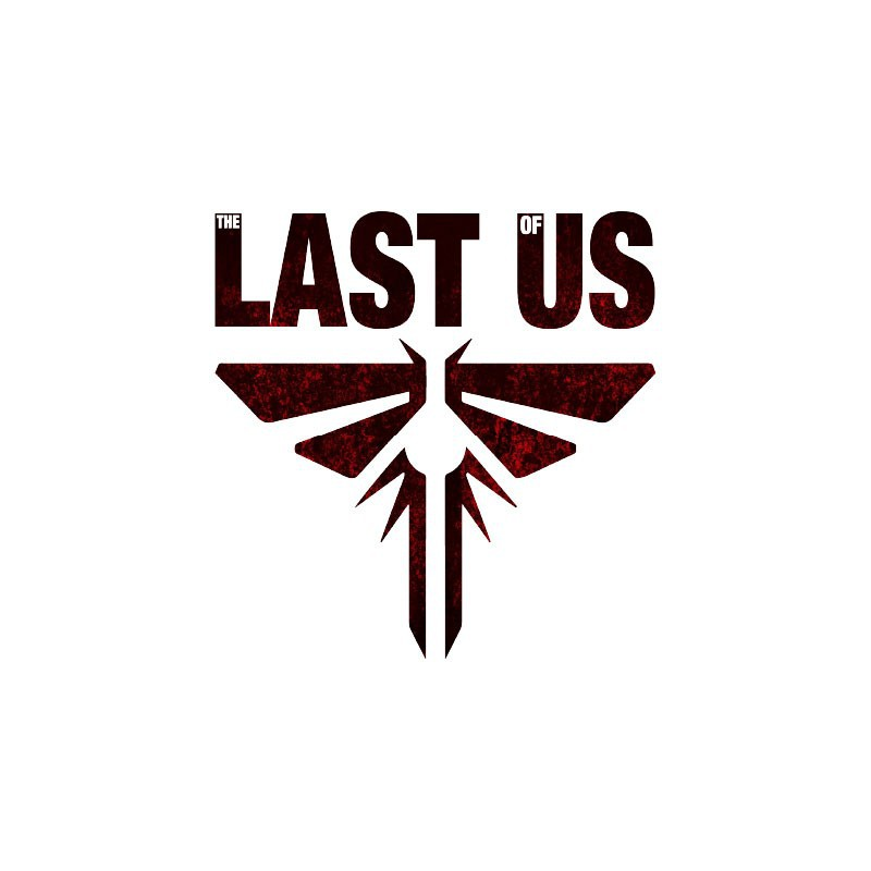 T Shirt The Last Of Us Firefly Symbol And Blood White